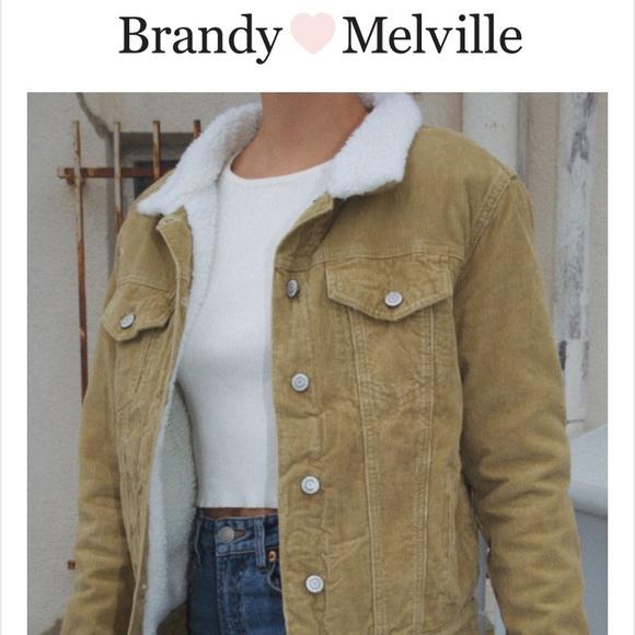 c3743bb08 Brandy Melville Tan sherpa lined corduroy jacket